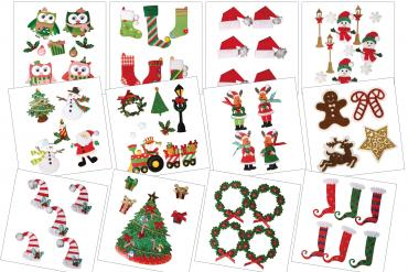 Stickers 3D de Navidad