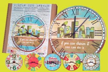 Nuevos Kits para pintar relojes con Arenas