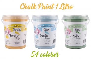 Chalk Paint Amelie 1 Litro, 54 colores.