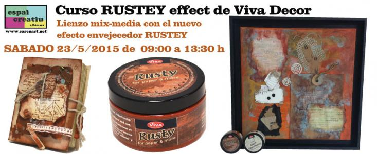 Curso lienzo mix-media con Rusty