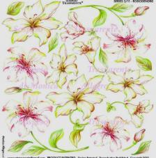 Sospeso transparente prediseñado Rododendro 23x23 cm