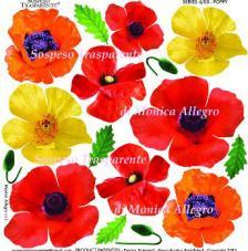 Adhesive film Poppy 23x23 cm