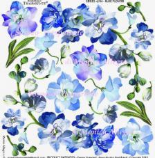Sospeso transparente prediseñado Blue Flower 23x23 cm
