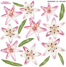 Sospeso transparente Pink Lilium 23x23 cm