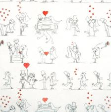 Tissu Amor rollo 30cmx5m