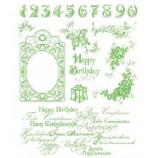 Sello de Silicona 14x18cm. Modelo 17, Happy Birthday
