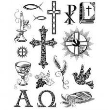 Sello de Silicona 14x18cm. Modelo 41. Christian Symbols