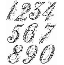 Sello de Silicona 14x18cm. Modelo 42. Anniversary Numbers