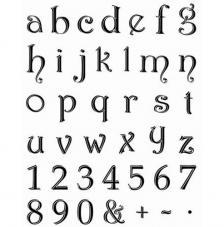 Sello de Silicona 14x18cm. Modelo 46. Small Alphabet