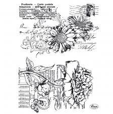 Sello de Silicona 14x18cm. Modelo 95. Flores