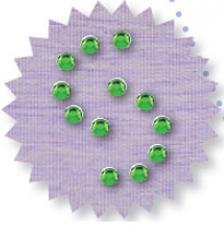 Blister 400 pzas. Octagon Glass Verde 4 mm