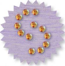 Blister 880 pzas. Octagon Glass Topaz 3mm