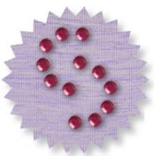 Blister 880 pzas. Octagon Glass Pink 3 mm