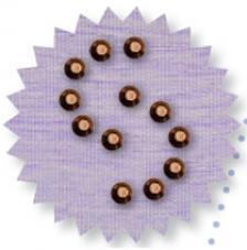 Blister 1200 pzas. Octagon Metalic Marron 3 mm