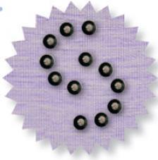 Blister 1200 pzas. Octagon Metalic Negro 3 mm