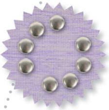 Blister 90 pzas. Metal precioso plata 6 mm