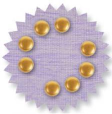 Blister 90 pzas. Metal precioso oro 6 mm