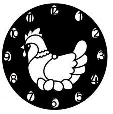 Stencil Reloj Gallina Ø 28 cm