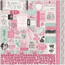 100 stickers Classique Pretty 30,5 x 30,5 cm.