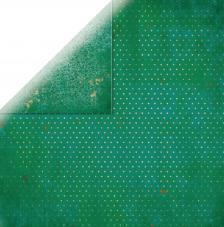 Papel doble cara 30,5 x 30,5 cm. Verde oscuro
