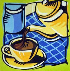 Cafetera. 38x46 cm