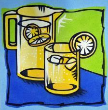 Jarrón limonada. 38x46 cm
