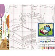 Cafe i llibres. 38x46 cm