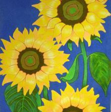 Sunflowers. 50x61 cm