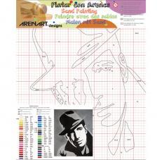 Humphrey Bogart. 38x46 cm