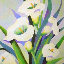 White Lilies. 38x46 cm
