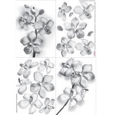 Paper decoupage orquidea 35x50 cm