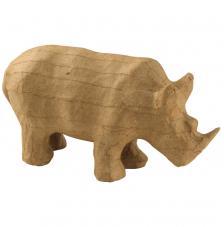 Rinoceronte de cartón 15,5x7,5x5 cm