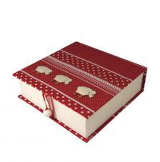 Caja carton book 13X12,5X3,5 cm