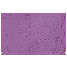 Plantilla de pliegues a 2 caras. Cajas Flor/corazon