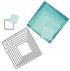 Troquel Framelit Sizzix. 8 cuadrados