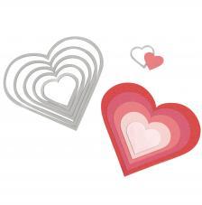 Troquel Framelit Sizzix. 6 corazones