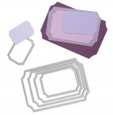 Troquel Framelit Sizzix. 5 rectangulos