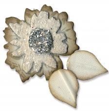 Troquel Originals Sizzix. Capas de flores con hojas