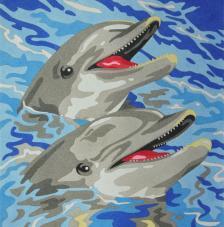 Dolphins. 38x46 cm