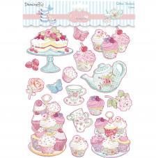Stickers Glitter Cupcake 24,3x19,8 cm. Cakes