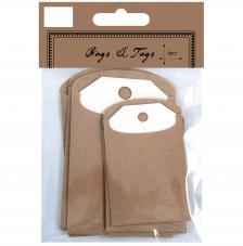 6 etiquetas con bolsa de cartulina. 2 medidas