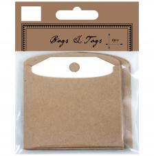 6 etiquetas con bolsa de cartulina.
