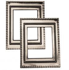 2 marcos metálicos 7x5,5 cm. Art Deco