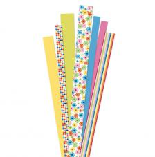 90 tiras papel quilling flores amarillas 1, 1,5 y 2 cm. 80 gr
