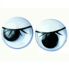Set 10 ojos redondos con pestaña. 3 medidas