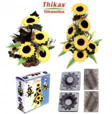 Thikas Girasoles. 2 pares de moldes para termoformado