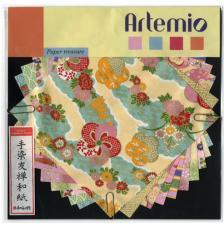 10 hojas papel japones 15x15 cm. Amarillos