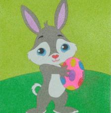 Conejo pascua. 20x18 cm precortado
