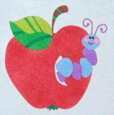 Manzana. 20x18 cm precortado