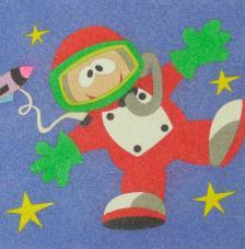 Astronauta. 20x18 cm precortado